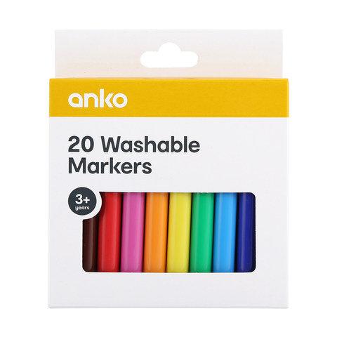 20 Washable Markers