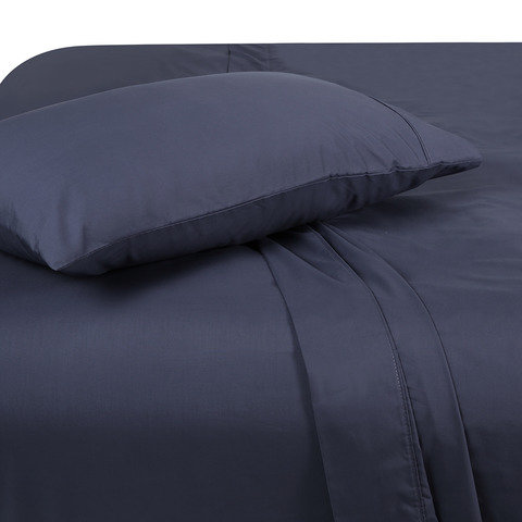 225 Thread Count Sheet Set - Single Bed, Denim