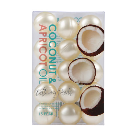 15 Pack Coconut & Apricot Oil Bathing Pearls