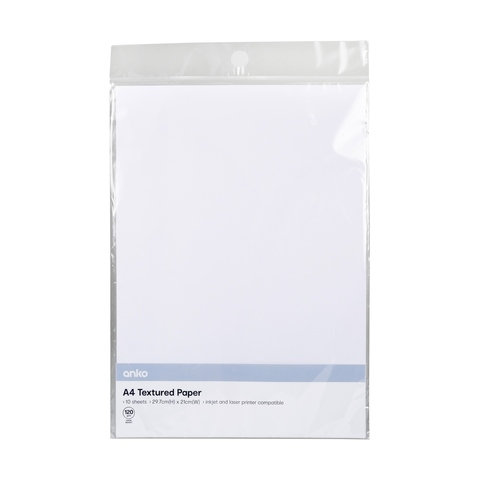 10 Pack A4 Textured Paper