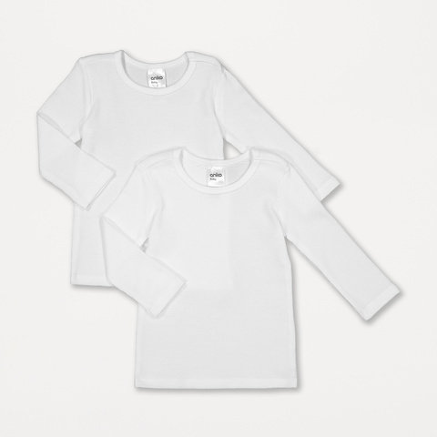 2 Pack Baby Waffle Thermal Top