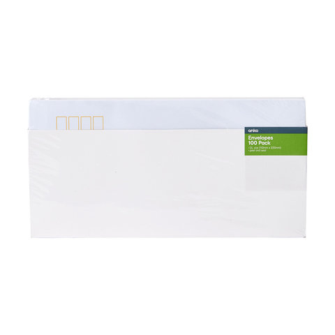 100 Pack DL Peel & Seal Envelopes