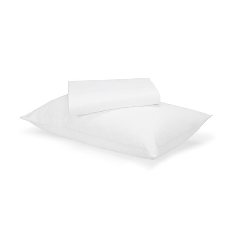 180 Thread Count Sheet Set - King Single Bed, White