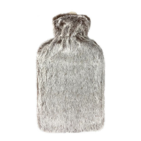 2L Hot Water Bottle with Cover - Faux Fur