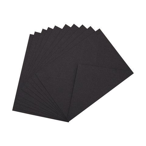 10 Pack Black Envelopes