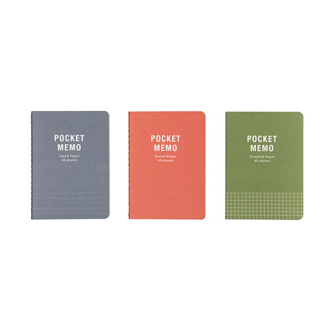 3 Pack A6 Notebooks