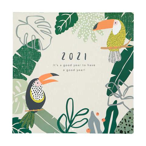 2021 Calendar Tropical