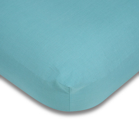 180 Thread Count Fitted Sheet - Double Bed, Aqua