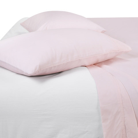 225 Thread Count Sheet Set - King Bed, Pink