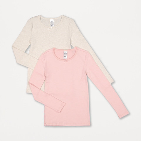2 Pack Brushed Long Sleeve Thermal Top