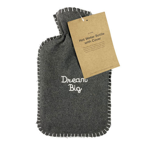 2L Hot Water Bottle with Cover - Dream Big