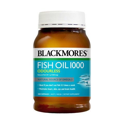 200 Pack Blackmores Fish Oil 1000 Capsules