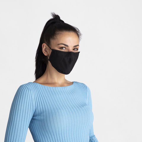 3 Layer Adult Face Mask - Black