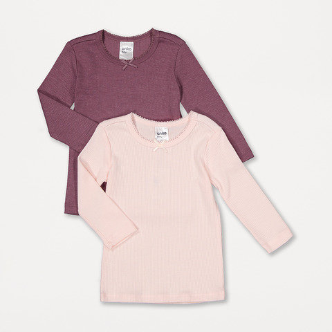 2 Pack Long Sleeve Brushed Thermal Top