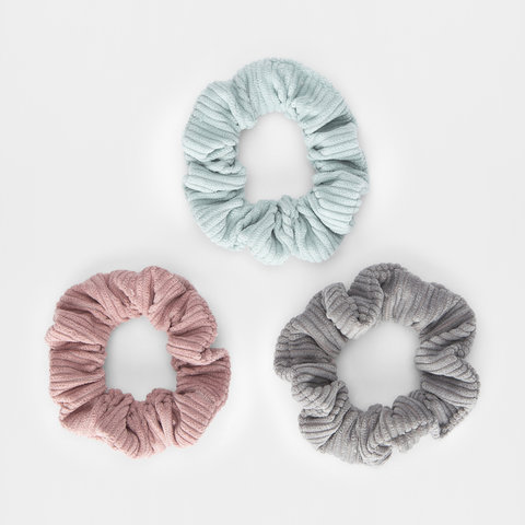 3 Pack Thick Corduroy Scrunchies