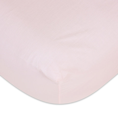 225 Thread Count Fitted Sheet - Single Bed, Pink