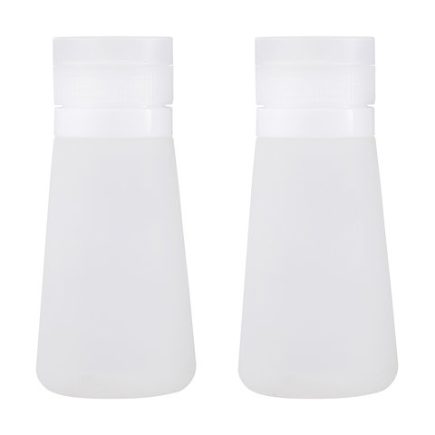 2 Pack Travel Bottles - Clear