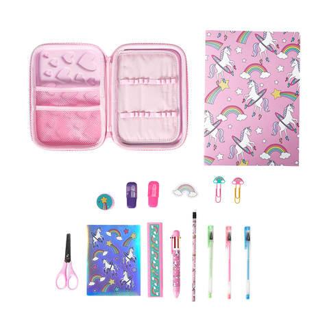 16 Piece Pencil Case Pack - Pink