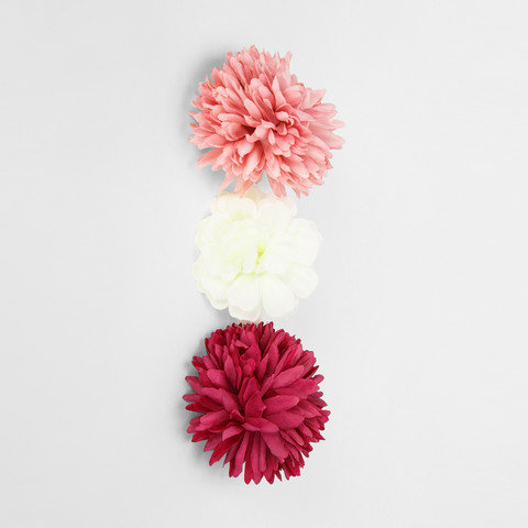 3 Pack Artificial Chrysanthemums