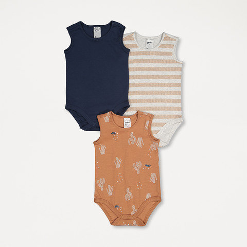 3 Pack Sleeveless Bodysuit