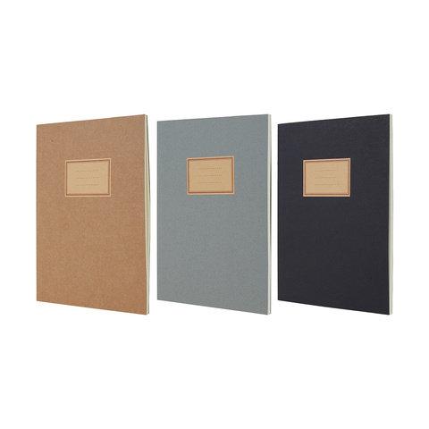 3 Pack Kraft Notebook