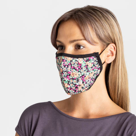 3 Layer Adult Face Mask - Ditsy