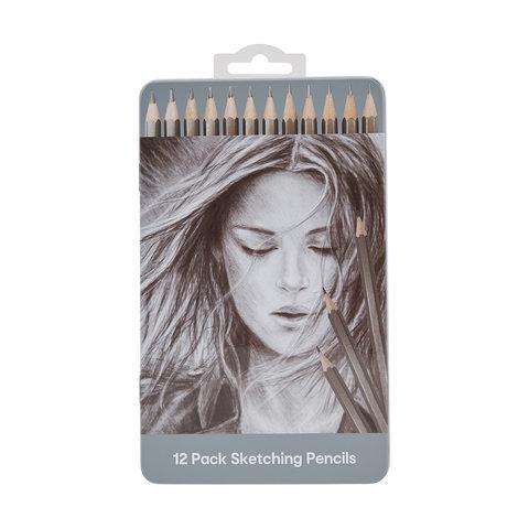 12 Pack Sketching Pencils