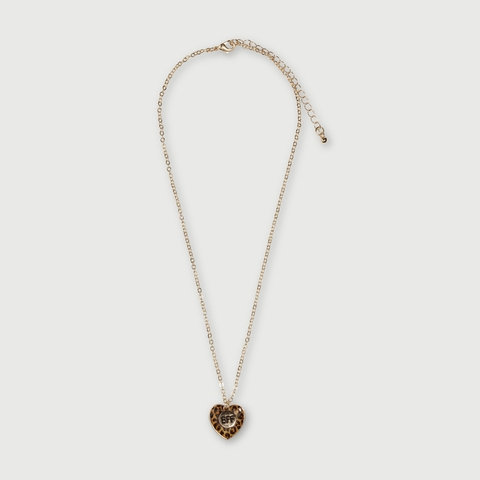 2 Pack Leopard Heart BFF Necklace