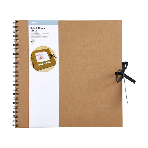 12in. x 12in. Spiral Album - Brown