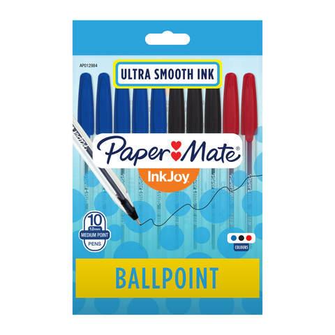 10 Pack Paper Mate Inkjoy Ballpoint Pens