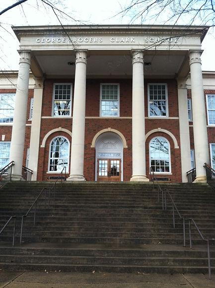 Front Entrance Clark Elementary fourthye