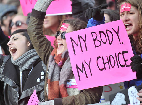 Protest for women's rights, specifically reproductive rights