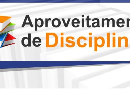 Edital de aproveitamento de disciplina 2021/01