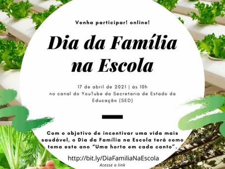 Dia da Família na Escola - online