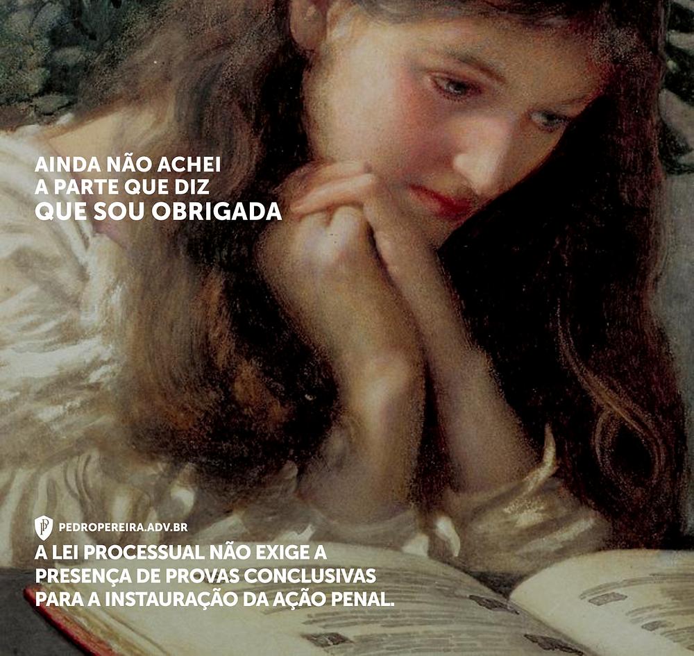 """A arte é uma adaptação da obra """"Lágrimas Indolentes"""", de Edward Robert Hughes."""