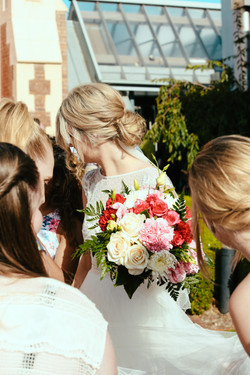 Wedding hair -low bun