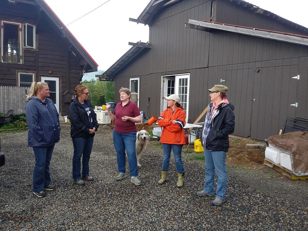 Group visits American Way Farm