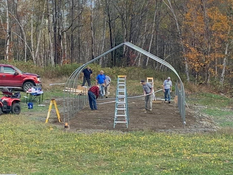 Chapter Barn Raising, a New Commercial High Tunnel Greenhouse - By Ed Chesky, Coos County