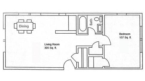 Unit 103 adn 203 Hamilton Floor Plan