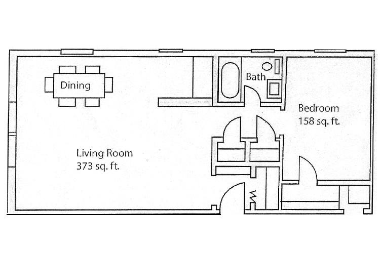 Unit 101 adn 201 Hamilton Floor Plan