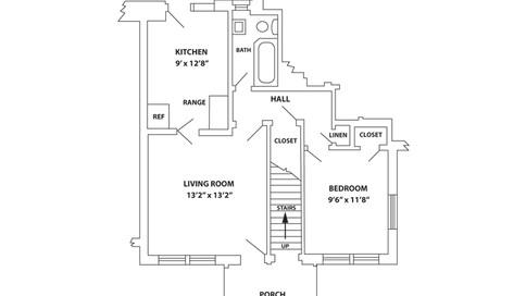Pugh / McCormick 1 Bedroom Unit Floor Plan