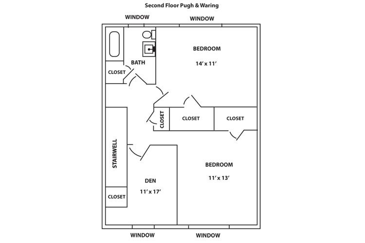 Cresmont Townhome Second Floor Plan