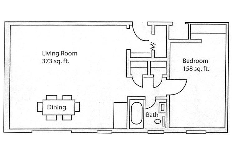 Unit 102 adn 202 Hamilton Floor Plan