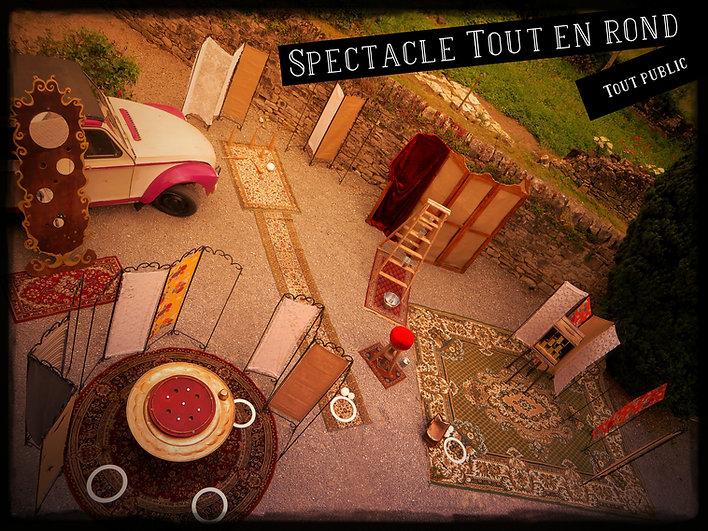 """""""Tout en rond"""" atelier création de badge, spectacle jonglerie et jeux forains autour du rond blanc"""
