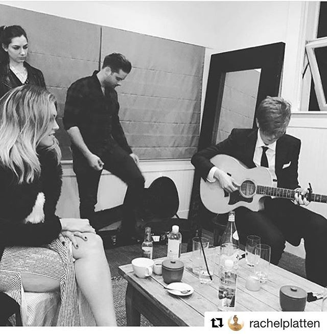 backstage chilling before our show with Rachel Platten