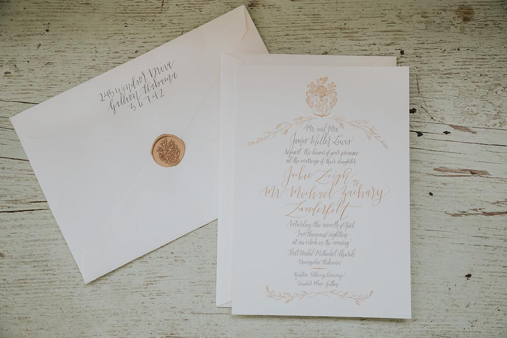 Wax Seal Wedding Invitations in Alabama