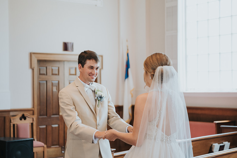 First Look with Groom