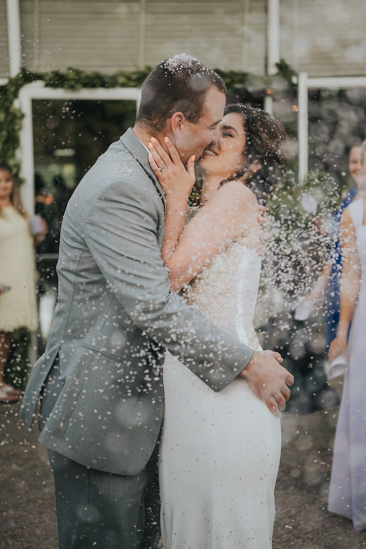 Confetti Leave at Wedding
