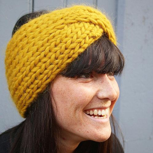 tricot : headband, mitaine, bonnet
