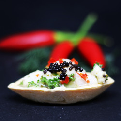 Ceviche Tartlet chillies